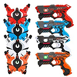 professional [UPGRADED]  VATOS infrared laser tag set (with 4 best), laser tag game 4 …