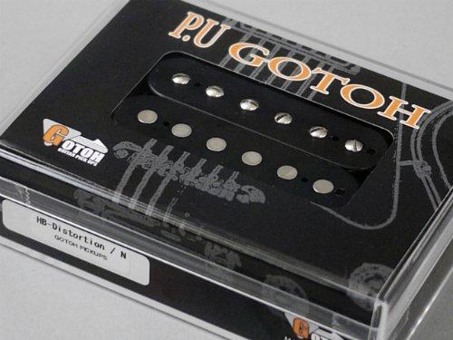 【 GOTOH Pickups 】日本製 ハムバッカーピックアップ HB-Distortion ネック用(フロント用) ブラックカラー GTPU-HB-DST-N