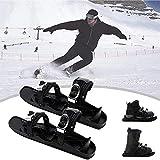 SOAR Raquetas Nieve Mini Patines de esquí para la Nieve, Zapatos de Patines portátiles para Nieve, Equipo de Deportes de Invierno Ski Ski Skets para Unisex