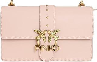 1P22A9.Y6XT O81 ROSA-POLVERE ROSA PINKO Pinko Pelletteria Borsa Donna LOVE CLASSIC ICON SIMPLY - PINKO
