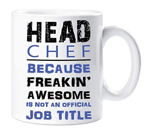 Not Applicable Chefkoch Blue Novelty Funny Mug Awesome ist kein offizielles Jobtitel-Geschenk