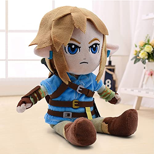 Peluche Zelda Plush Toys Cartoon Link Boy con Espada Muñeco De Peluche Suave para Niños
