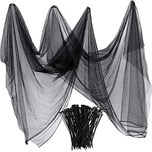 Zonon Rete Zanzariera di Insetti e Mosquito e Uccelli Caccia a Cieca Reticolato di Giardino di Protezione di Piante (3 m x 10 m, Nero)