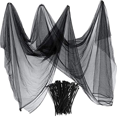 Zonon Bug Insect Mosquito Fly Bird Net Barrier Hunting Blind Plant Protecting Garden Netting (3 m x 10 m, Black)