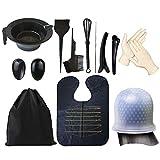 14-tlg. Haarfärbeset mit Aufbewahrungstasche - Haarfarbe Set Haarfarbe Kit Haarfarbe DIY Werkzeug...