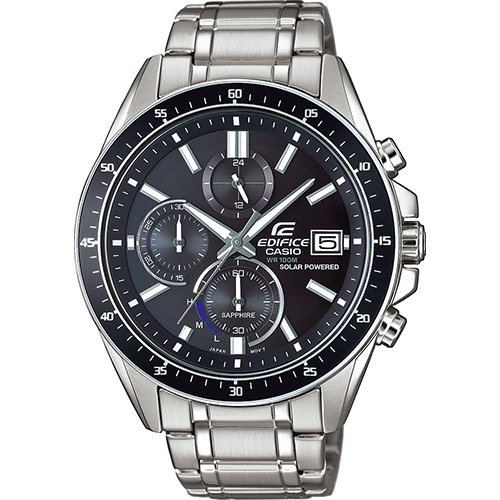 CASIO Herren Chronograph Solar Uhr mit Edelstahl Armband EFS-S510D-1AVUEF