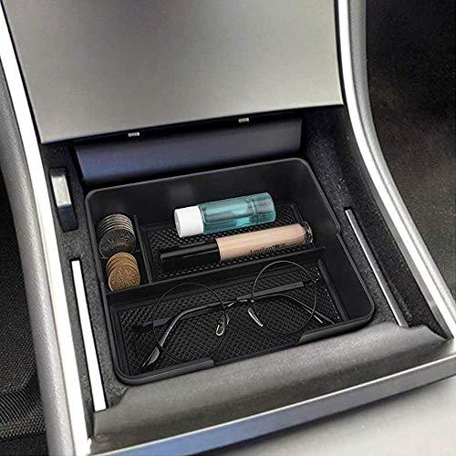 Zubehör für Tesla Model 3, Mittelkonsole Organizer Tablett für Tesla Modell 3 2017 2018 2019, Tesla Model 3 Accessories Organizer für Handy Sonnenbrille Münzen Rutschfeste Armlehne