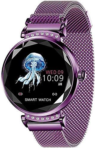 Reloj inteligente para mujer con recordatorio de llamadas, podómetro, frecuencia cardíaca, presión arterial, pulsera inteligente aplicable a Android 4...