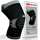 Blitzu Flex Professional Compression Knee Brace Support For Arthritis Relief, Joint Pain, ACL, MCL, Meniscus Tear, Post Surgery, Best Sleeve Side Stabilizers & Padding Protector, Injury Recovery XL