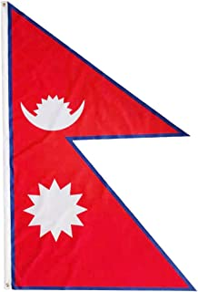 Nepal Flag 5x3 ft | Large size Nepalese Flag from 100% Polyester Material with Double Stitched | Metal Eyelets Our Nepali ...