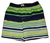 Healthtex Toddler Boys Acid Yellow Stipes Swim Short Trunk - 5T