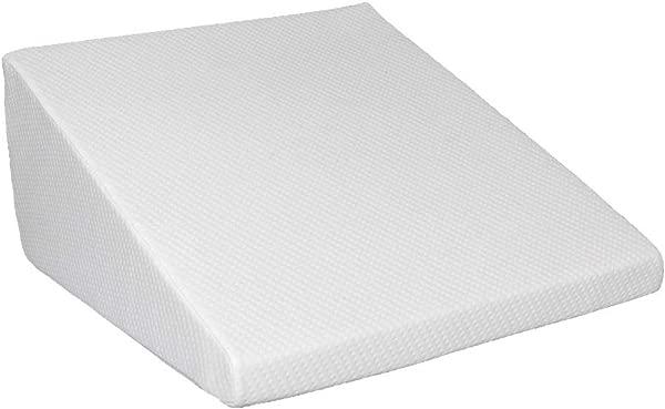 Jskjlkl Massage Back Support Wedge Pillow Lumbar Memory Foam Pillow For Gaming Reading White 25 X 24 X 12