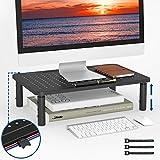 BONTEC Soporte de Monitor PC Ergonómico Levandator de Soporte para Ordenador Portátil de Metal de Calidad Altura Ajustable para Ordenador Portátil, Computadora, iMac, PC, Impresora de hasta 20 kg