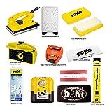 12-teiliges Ski-Pflegeset / Skiwachsset inkl. praktischer Hänge-Transporttasche, Anleitung etc.