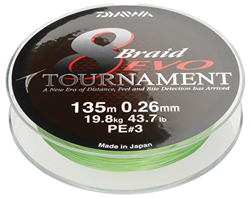 Daiwa Tournament 8 Braid EVO 0.14mm, 10,2kg/22,4lbs 135m chartreuse