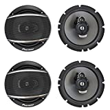 (4) Pioneer TS-A1677S 6.5' 3 Way Car Audio Speakers 320 Watts