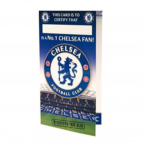 Chelsea FC officiële voetbalcadeau verjaardagskaart nr. 1 fan - een geweldig verjaardagscadeau voor mannen en jongens