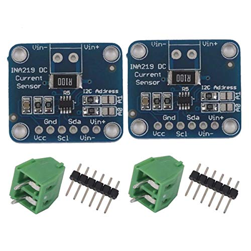 N / A 2pcs INA219 I2C Bi-Directional DC Current Power Supply Sensor Breakout Module Compatible with Arduino Raspberry Pi