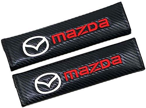 NBHUYT 2Pcs Car Seat Belt Padding Protection Covers, For CX-30 Mazda2 Demio Mazda3 Mazda6 Atenza MX-5 CX-3 CX-4 CX-5, Auto Safety Shoulder Strap Cushion Cover Pads