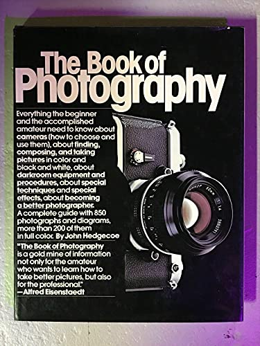 The Book Of Photography By John Hedgecoe 1980 RARE Vintage Hardcover - Near-Mint