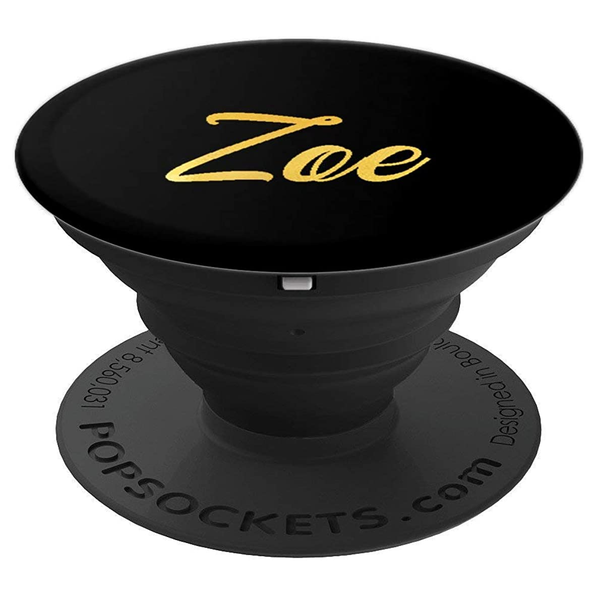 Zoe Name Personalized Happy Birthday Fancy Girl Mom Black - PopSockets Grip and Stand for Phones and Tablets jhpv2686699662