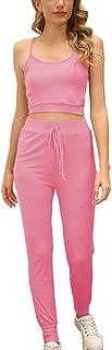 Chongmu Pajamas Sets for Women Yoga Jogger Tracksuits Set 2 Piece Pants Sleepwear Activewear Set Nightwear