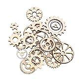 Healifty 20 Stück Dekoration Tischdeko Konfetti-Räder aus Holz für DIY Handwerk Dekoration für...