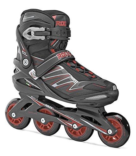 Roces Big ZYX Inline Skates, Black/Red, US 18