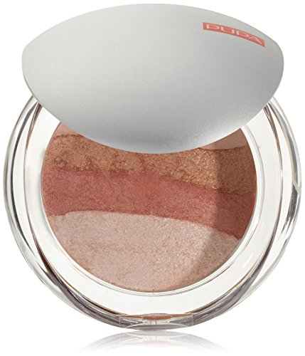 Pupa Luminys Baked All Over Illuminating Blush Powder 01 Stripes Rose Puder wypiekany do twarzy i ciała
