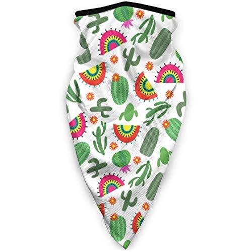 Sombreros de Estilo Mexicano Brillante sin patrón con Polaina de Cuello de Cactus para Hombres, Protector de Polvo 3D Sun UV para Acampar al Aire Libre, Correr,