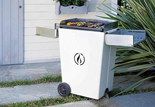 Linea Grilly Party Barbecue a Pellet, Bianco, 71x43x100 cm