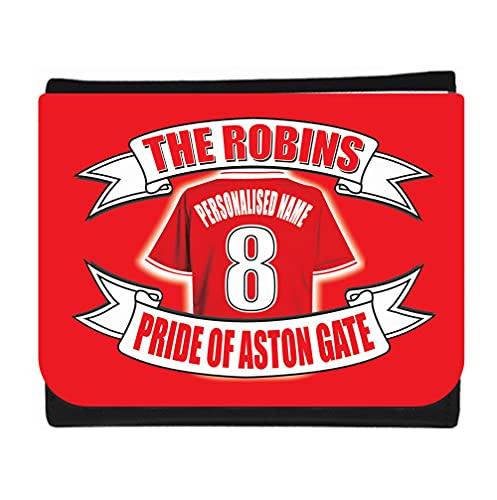 Bristol City Football Shirt Personalised Wallet Gift