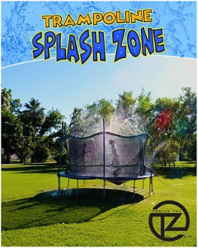 ThrillZoo Trampoline SplashZone - Aspersor divertido para niños de verano al aire última intervensión - Parque acuático juguetes para niños, niñas y adultos, accesorios incluidos, juguete se fija en la red de seguridad