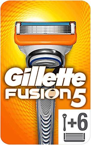 Gillette Fusion 5 Rasoir Homme + 6 Lames de Rasoir [OFFICIEL]