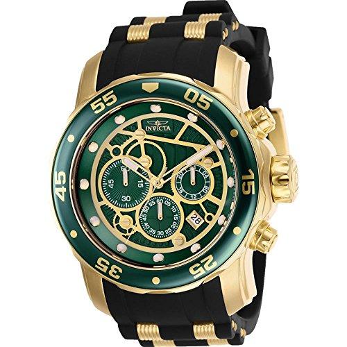 Invicta 25708 Men's Pro Diver Chronograph Green Dial Quartz Watch