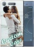 Coque de téléphone personnalisable compatible avec Sony Xperia XZ1 - Coque transparente en TPU...