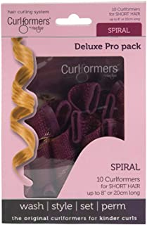 Curlformers Hair Curlers Deluxe Range Short Spiral Curls Top Up Pack, 10 No Heat Hair Curlers (Styling Hook not Included), for Short Hair up to 8