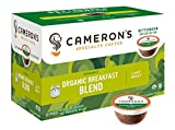 Cameron's Coffee Single Serve Pods, Organic Breakfast Blend, 12 Count (Pack of 6)