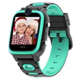 【Dual Cameras + Video 】 Smart Watch for Kids Boys Girls with Dual Cameras Video Recorder Player, MP3 Music Player,Pedometer,33 Clock Faces,7 Games, Waterproof and More (3 Colors)