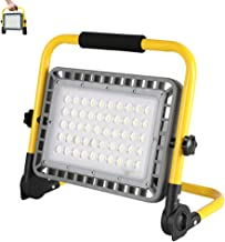Gluckluz Camping Flood Lights COB LED Rechargeable Portable 100W Work Light Waterproof Adjustable Angle Floodlights for Ou...