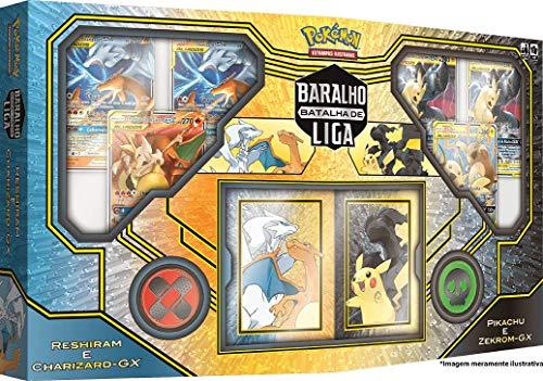 Batalha de Liga Pokémon Pikachu e Zekrom & Charizard e Reshiram, Copag, Estampado