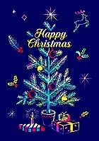 ラゴデザイン クリスマス スクラッチポストカード ハッピーツリー PC-CM07 スクラッチポストカード1枚+封筒1枚+スクラッチスティック1本 [日本正規品]