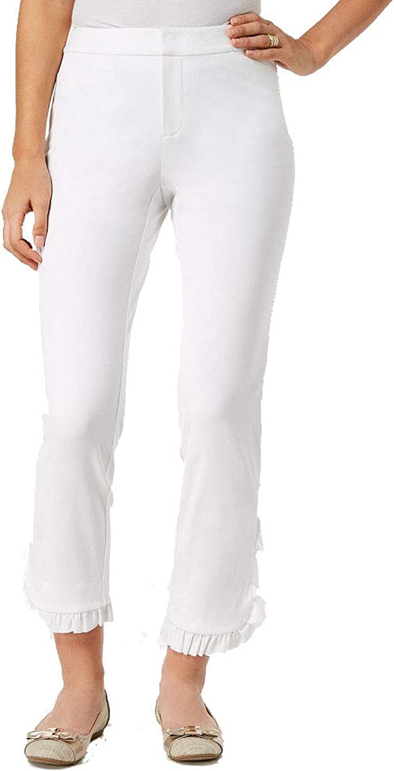 Charter Club Newport Ruffled Cropped Pants