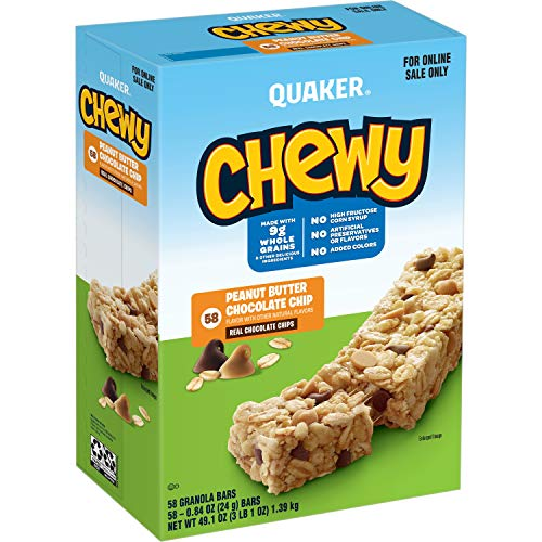 Quaker Chewy Granola Bars Peanut Butter Chocolate Chip 58 Pack