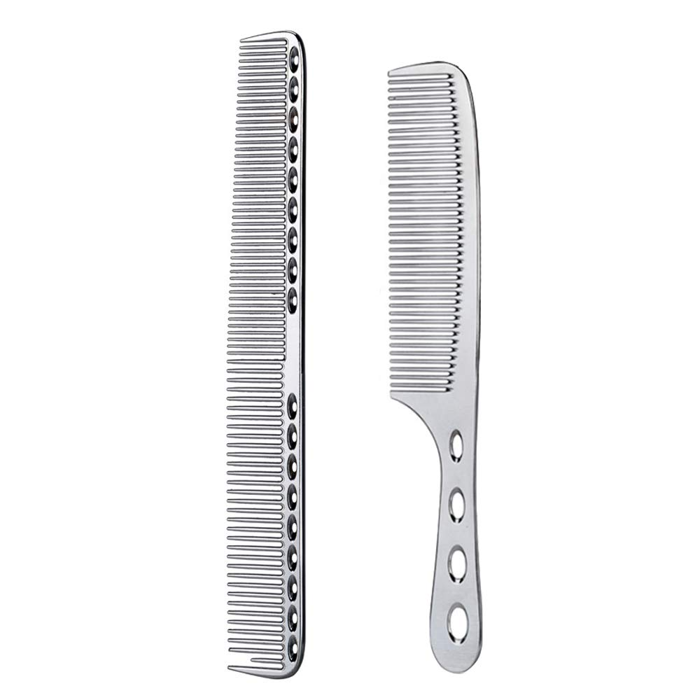 2 pcs Stainless Steel Hair Popular brand in the world Combs Comb Styling Cheap mail order shopping Anti Static Hairdr