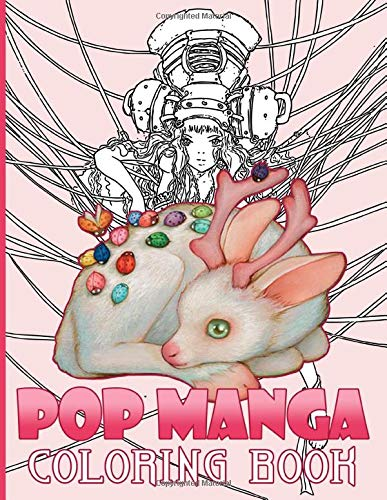 Pop Manga Coloring Book: Featuring Enchanting Coloring Books For Adults Relaxing