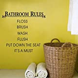 ruanger Wall Art Stickers Quotes and Sayings Bathroom Rules Put Down The Seat Quotes Decoration