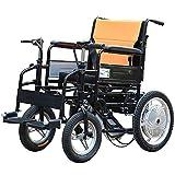 WLMGWRXB Scooter eléctrico de Cuatro Ruedas Silla de Ruedas eléctrica para discapacitados Batería Batería Bicicleta Plegable en