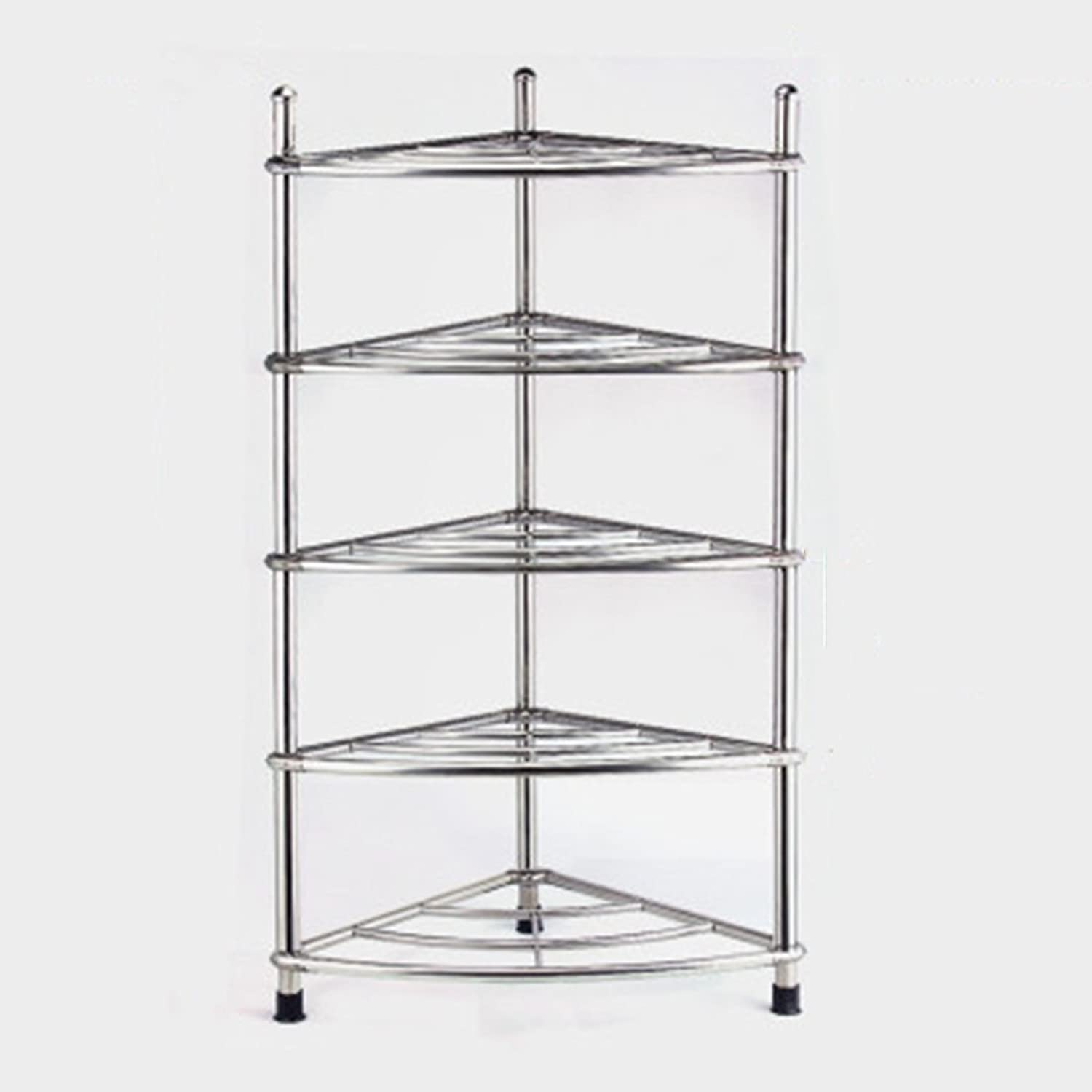 Cpp Shelf Multilayer Stainless Steel washbasin Rack Tripod Kitchen Bathroom Floor Rack (color   39  90cm)
