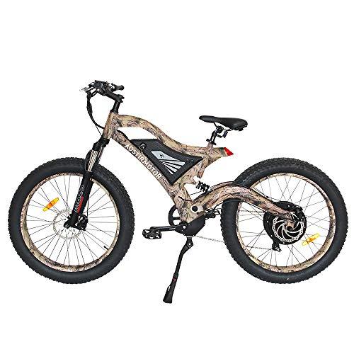 WOkismx Elektro-Fahrrad Fat Tire Electric Mountain Bike Elektro-Fahrrad Beach Cruiser Schnee-Fahrrad-1500W 48V 14Ah Lithium-Batterie